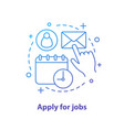 apply for job concept icon