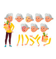 asian old woman senior person aged vector image vector image