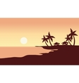 At Sunset in beach scenery vector image vector image