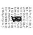 background made of line icons sport fitness and vector image vector image