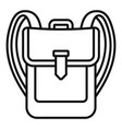 backpack icon outline style