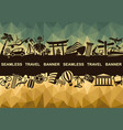 banner with symbols travel vector image vector image
