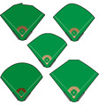 baseball fields vector image vector image