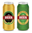 beer can design template label and package vector image