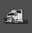 big truck colour black grey vector image vector image