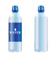 bottle of pure water vector image vector image