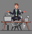 businessman ceep calm on work vector image