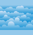 cartoon cloud and sky abstract background vector image