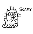 cat tik was scared vector image vector image