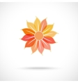 colorful flower symbol vector image