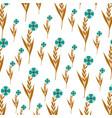 cute flower garden decorative pattern vector image