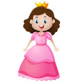 cute princess in pink dress vector image