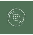 Disc icon drawn in chalk vector image vector image