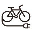 e bike icon vector image vector image