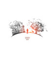 ecology concept hand drawn isolated vector image vector image