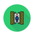 elevator icon on round background vector image