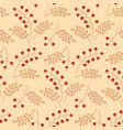 embroidered berries pattern vector image vector image