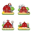 Farm Flat Isolated Decorative Icons vector image