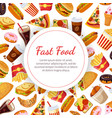 fast food banner template restaurant cafe design vector image