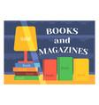 flat design books shop facade icon store modern vector image vector image