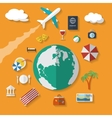 flat design style modern icons set vacation vector image vector image