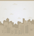 flat of city landscape vector image vector image