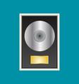 flat vinyl disk vector image vector image