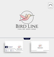 flying humming bird line art logo template icon vector image vector image