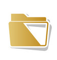 folder sign golden gradient vector image vector image