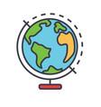 globus concept line icon editable stroke vector image vector image