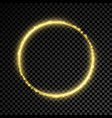 gold glitter star circle background vector image