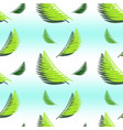 gradient seamless pattern with palm leaves vector image vector image