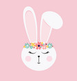 happy easter decorated easter card with cute vector image