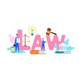 international law web banner flat template vector image vector image
