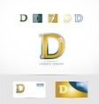 Letter D yellow gold logo vector image vector image