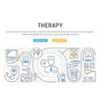 linear banner therapy vector image