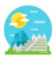 Machu Pichu flat design landmark vector image vector image