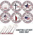 Martin luther king day vector image