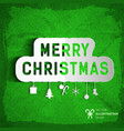 merry christmas template vector image