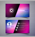 modern business card design template with vector image