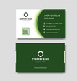 modern green business card vector image vector image