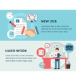New Job after Hard Work infographic Students vector image vector image