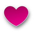 Paper pink heart vector image vector image