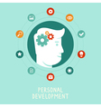 personal development concept in flat style vector image