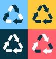 Recycle symbol icons