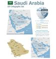 Saudi Arabia maps with markers vector image