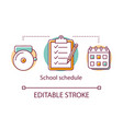 school schedule concept icon planning lessons vector image