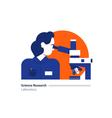 Science lab scientific research laboratory woman vector image