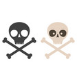 set icons skull vector image