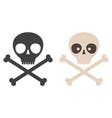 set icons skull vector image
